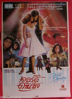 Dirty Dancing Patrick Swayze Thai Movie Poster | eBay