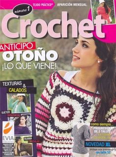 "Photo from album ""Crochet Otono - - on Yandex. Crochet Lace Edging, Crochet Chart, Knit Crochet, Crochet Patterns, Knitting Squares, Easy Knitting, Knitting Stitches, Knitting Magazine, Crochet Magazine"