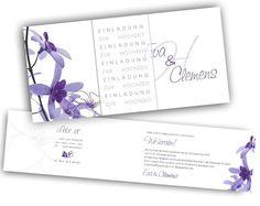 Hochzeitseinladungskarten+-+Liebe+ist... Bullet Journal, Books, Paper, Modern Typography, Thanksgiving Cards, Lilac Flowers, Invites Wedding, Thanks Card, Card Wedding