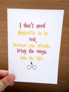 Harry Potter Greeting Card Etsy Listing At