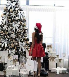 girl, christmas, and dior image
