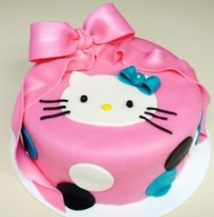 Decoracion de torta inspirada en Hello Kitty                              …