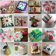 Pincushions! Fabric Crafts, Sewing Crafts, Sewing Projects, Needle Book, Sewing Accessories, Love Sewing, Sewing Notions, Sewing Hacks, Sewing Kits