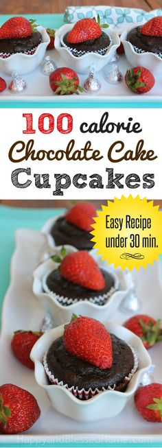 100 Calorie Chocolate Cake Cupcake Recipe - these are amazingly rich with chocolatey flavor. Nom nom. Why didn't I do this sooner? Easy recipe for chocolate cupcakes! #ConfidenceUDeserve ad