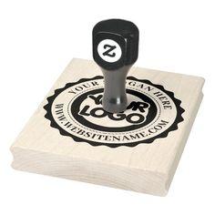 Custom Business Logo Large Rubber Stamp Custom Rubber Stamps, Wood Stamp, Foam Cushions, Wooden Handles, Christmas Card Holders, Business Logo, Custom Logos, Wood Art, Laser Engraving