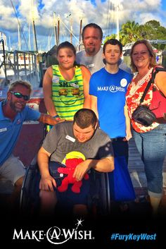 We love welcoming children & their families from the Make-A-Wish Foundation to #KeyWest for unforgettable excursions! Recently, Dylan Blair and his family, including his dad Jeff, mom April, sister Carly and brother Matthew, enjoyed a Commotion on the Ocean #sunset cruise with Captain Steve. Read more on our blog! #FuryKeyWest