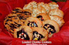 Everybody's Favorite Loaded Chunky Cookies - This fabulous cookie dough recipe makes enough for several batches of cookies. It's up to you to be creative with the mix-ins. Soft Peanut Butter Cookies, Chocolate Chip Pudding Cookies, Pecan Cookies, Coconut Cookies, Creamy Peanut Butter, Oatmeal Cookies, Chocolate Chips, White Chocolate, Butter Tart Squares