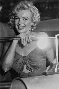 Marilyn Monroe at her first baseball game in 1952