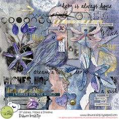 Free Mini Kit from Dawn Inskip for the Lilypad's Of Wishes, Hopes and Dreams Blog Hop