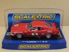 Rare SCALEXTRIC  C2775 69 FORD BOSS 302 MUSTANG Coca-Cola Ltd Ed Slot Car 1/32