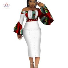 2018 Summer Dashiki Party Hot Vestidos for Women Cotton Print Traditional African Clothing 5xl nature dress Mid-Calf WY3208
