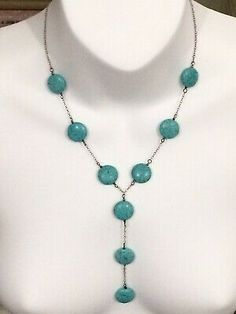 Vintage Sterling Silver Turquoise Necklace Excellent Condition  | eBay