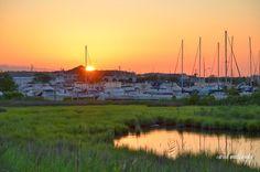 Sunset, Kent Island, Chesapeake Bay, Eastern Shore, Kent Narrows, Maryland.