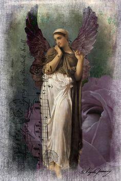 """Angel in Lavender"", Digital Art by Ingrid Pomeroy"