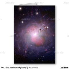 NGC 1275 Perseus cD galaxy Greeting Card