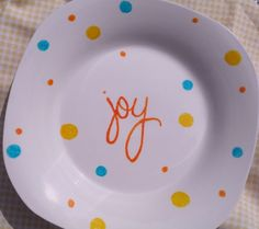 Super-Easy Painted Plates « So Very Vicki