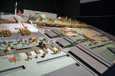 Model of competition entry Parc de la Villette by OMA - Rem Koolhaas, 1982