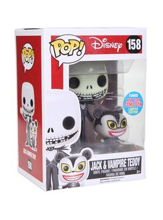 SDCC 2014 Exclusive Jack Skellington with Zero from Nightmare Before Christmas ReAction Figure 3.75 Inches Funko