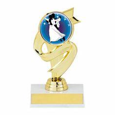 "5 1/2"" Trophy with Ribbon Design - Reward your award-winning students with our new ribbon design trophy!"