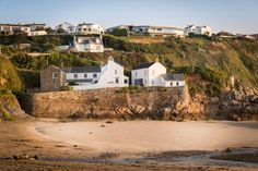 The Spyglass seduces you with just a stone's throw from the sea, this luxury self-catering beach cottage is one of Gorran Haven's best kept secrets in Cornwall House By The Sea, Devon And Cornwall, England Uk, Beach Cottages, Coastal Living, Seaside, Beautiful Places, Vacation, Mansions