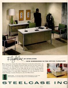 Find Best Value And Selection For Your 1961 Steelcase Inc Flightline Office Furniture Desk Chairs Print Ad Search On EBay Worlds Leading Marketplace