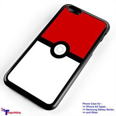 Pokemon Pokeball Logo Anime - Personalized iPhone 7 Case, iPhone 6/6S Plus, 5 5S SE, 7S Plus, Samsung Galaxy S5 S6 S7 S8 Case, and Other