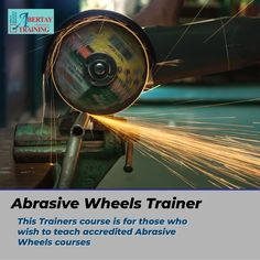 This trainers course is for those who wish to gain accredited abrasive wheels courses. In this course you will learn: Types of Wheels • Wheel markings and Wheel manufacture • British Standard Marking System • Storage, Handling and Transportation Plus so much more. What are you waiting for? Start book today! #abrasivewheels #abrasivewheelstrain #abrasivewheelstraining #abrasivewheelstraining #abrasivewheelstrainer #abrasivewheelstrainerscourse Train The Trainer, British Standards, Fire Safety, Health And Safety, Gain, Trainers, Transportation, Wish, Waiting