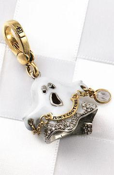 """Juicy Couture Ghost Charm says """"No scary fashion"""" 2006 Locket Charms, Lockets, Juicy Couture Charms, Body Jewellery, Diamond Are A Girls Best Friend, Vintage Jewelry, Nordstrom, Bling, Charmed"""