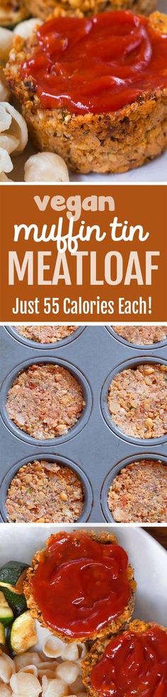 NO tofu or eggs in these portable vegan meatloaf cupcakes that are so easy