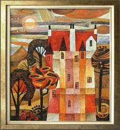 Beata Wilczewska: 'Castle', 40cm X 50cm