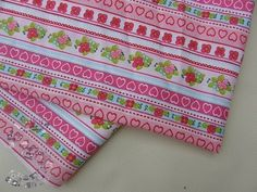 Tkanina bawełniana różowe wzorki 120g/m2