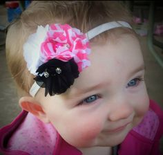 Chiffon Fabric Flowers with Elastic Headband Skinny Headbands, Elastic Headbands, Chiffon Fabric, Stylish Dresses, Fabric Flowers, Hair Bows, Princess, Fashion, Ribbon Hair Ties