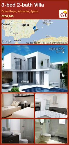 3-bed 2-bath Villa in Dona Pepa, Alicante, Spain ►€268,200 #PropertyForSaleInSpain