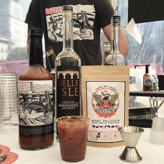 Stop by the @texasbeachrva table at @fireflourfork for a 100% local Bloody Mary. Spicy and delicious - good work guys! #fff2015 #fireflourfork #local #moonshine #cocktails
