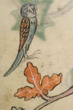 Detail from The Luttrell Psalter, British Library Add MS 42130 (medieval manuscript,1325-1340), f43v