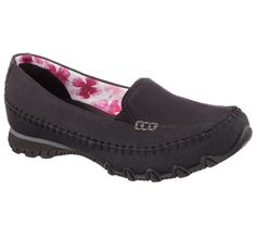 Keep up the pace in style and comfort with the SKECHERS Relaxed Fit®: Bikers - Jaywalk shoe.  Soft woven canvas fabric upper in a slip on casual dress comfort loafer with stitching and overlay accents.  Memory Foam insole.