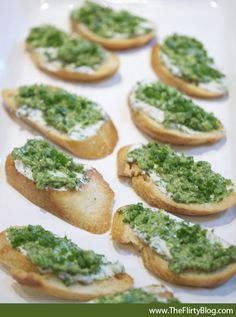 St. Patrick's Day Green - Pesto & Goat's Cheese Baguettes