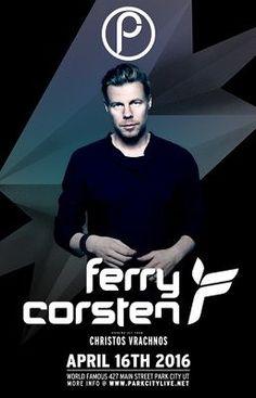 Tonight! Ferry Corsten @ Park City Live (Utah)  http://www.musiceternal.com/Events/2016/Ferry-Corsten-Park-City-Live-20160416  #musiceternal #FerryCorsten #Canada