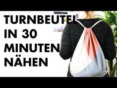 DIY | TURNBEUTEL IN 30 MINUTEN NÄHEN | Auch für Anfänger - YouTube