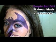 Purple Bat Girl Makeup Mask #halloween #video #tutorial #howto