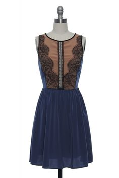 Dancing With Dynamite Dress Navy