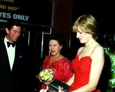 Lady Diana with Prince Charles Princess Margaret.