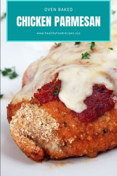 Easy, delicious and savory recipes for oven baked chicken parmesan. Let's try this amazing recipe at your home. Oven Baked Chicken Parm Recipe, Oven Parmesan Chicken, Parmesan Chicken Breast Recipe, Easy Baked Chicken, Oven Chicken, Yummy Chicken Recipes, Baked Chicken Breast, Chicken Freezer Meals, Allrecipes