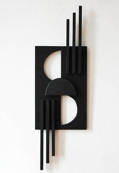 Cardboard Sculpture, Wood Sculpture, Wall Sculptures, Geometric Shapes Art, Geometric Sculpture, Wooden Wall Art, Diy Wall Art, Shape Art, Fused Glass Art