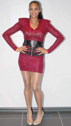 Short Skirts, Short Dresses, Women With Beautiful Legs, Alesha Dixon, Tv Girls, Nylons And Pantyhose, Sexy Outfits, Sexy Women, Bodycon Dress