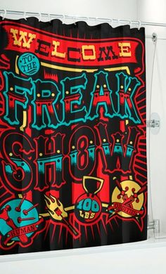 Sourpuss Freak Show Shower Curtain  $25