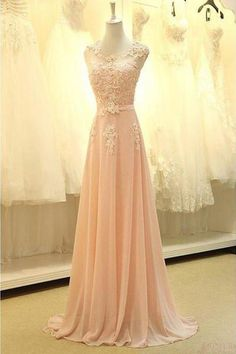Real Made Appliques Long Prom Dress Evening Dress OK189
