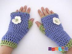 Crochet PDF pattern Fingerless Gloves Pattern by HowDoYouDoIt