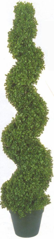 "50"" TOPIARY ARTIFICIAL OUTDOOR BOXWOOD SPIRAL TREE UV BUSH 4' 2"" FAKE EVERGREEN #SilkTreeWarehouse"