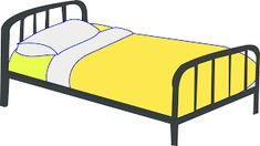 Free professional design Single Bed vector file with clipart version PNG and SVG Single Bed vector file. A steel single bed with a yellow blanket on it. A double bed is also available in this collection. Make Your Bed, How To Make Bed, Bedroom Chair, Bedroom Decor, Ikea Bedroom, Bedroom Furniture, Clipart, Education World, Art Education